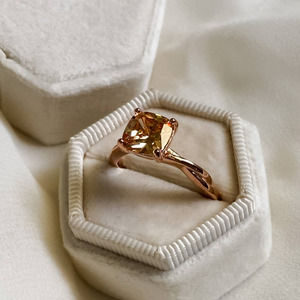 Rose Gold Morganite Cushion Cut Ring